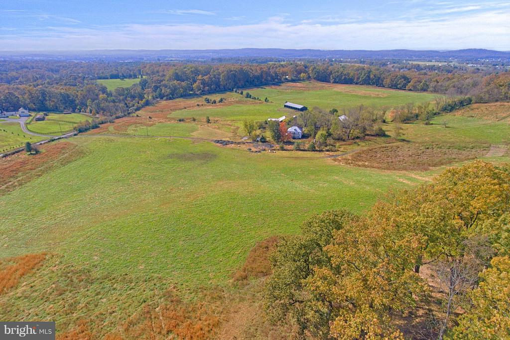 View of Front Half of Property from Mid-Ridgeline - 43660 SPINKS FERRY RD, LEESBURG