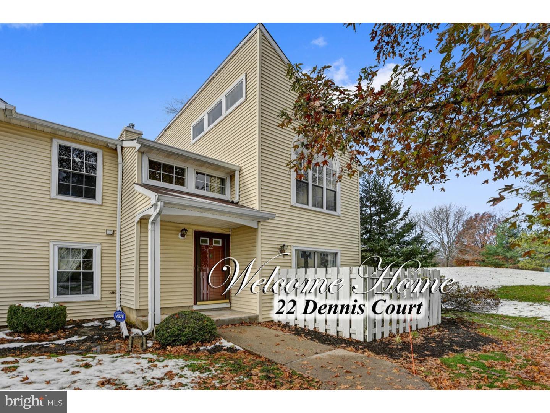 Enfamiljshus för Försäljning vid 22 DENNIS Court Hightstown, New Jersey 08520 Förenta staternaI/Runt: Hightstown Borough