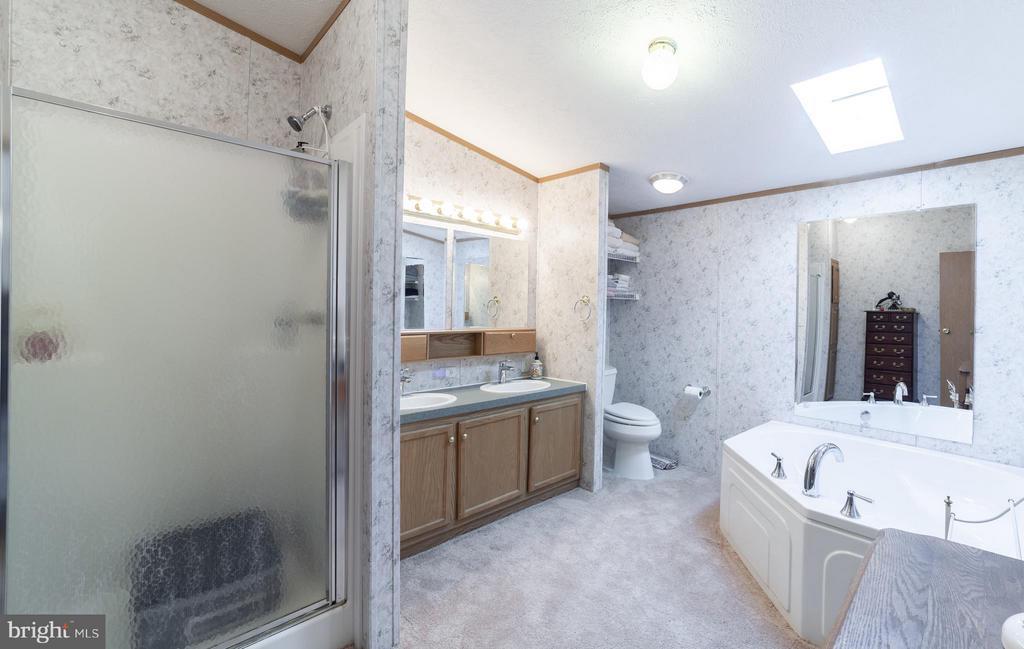 Master bath - 2200 QUEBEC SCHOOL RD, MIDDLETOWN