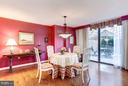 Generously Proportioned Dining Rm w/Access to Terr - 4200 MASSACHUSETTS AVE NW #120, WASHINGTON