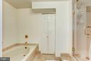 Master Bathroom-Soaking Tub, Stall Shower - 4200 MASSACHUSETTS AVE NW #120, WASHINGTON