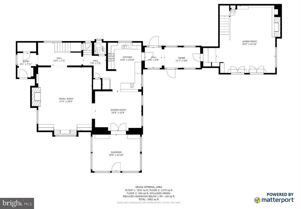 Main level floor plan - 814 CORNELL ST, FREDERICKSBURG