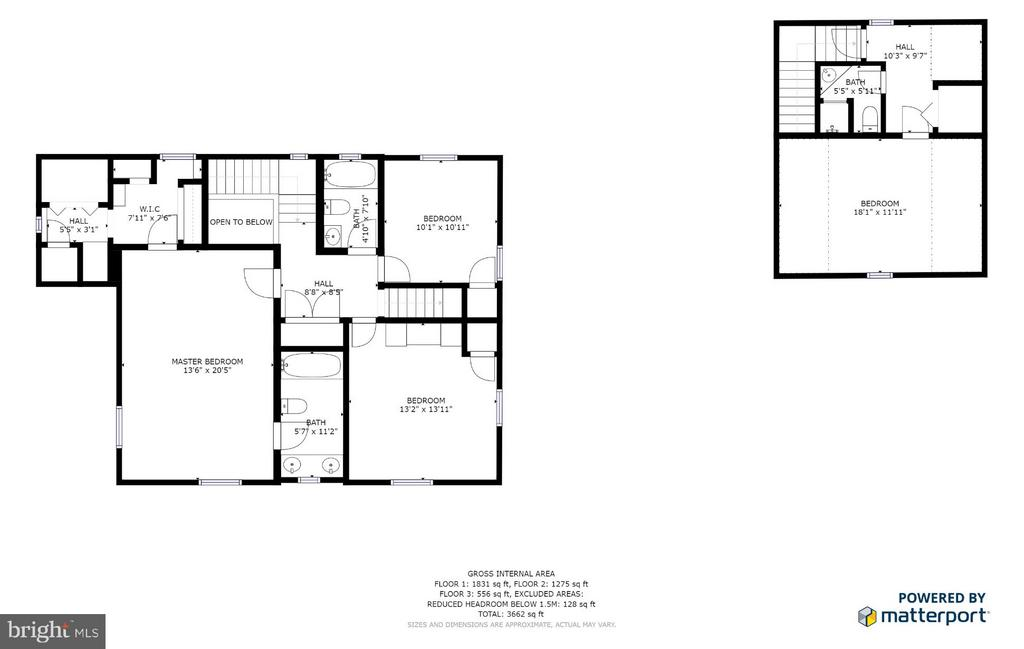 Upper level floor plan - 814 CORNELL ST, FREDERICKSBURG