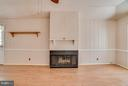 Natural gas fireplace in your family room - 3327 SOMERSET LN, FREDERICKSBURG