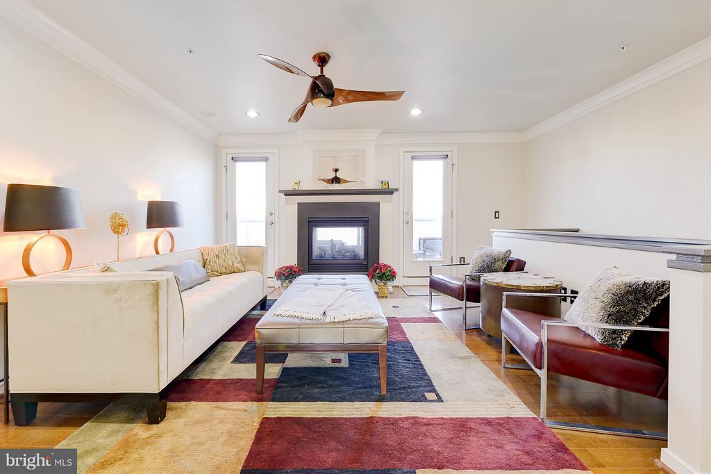 2 doors leading to rooftop deck, fireplace - 335 I ST SE, WASHINGTON