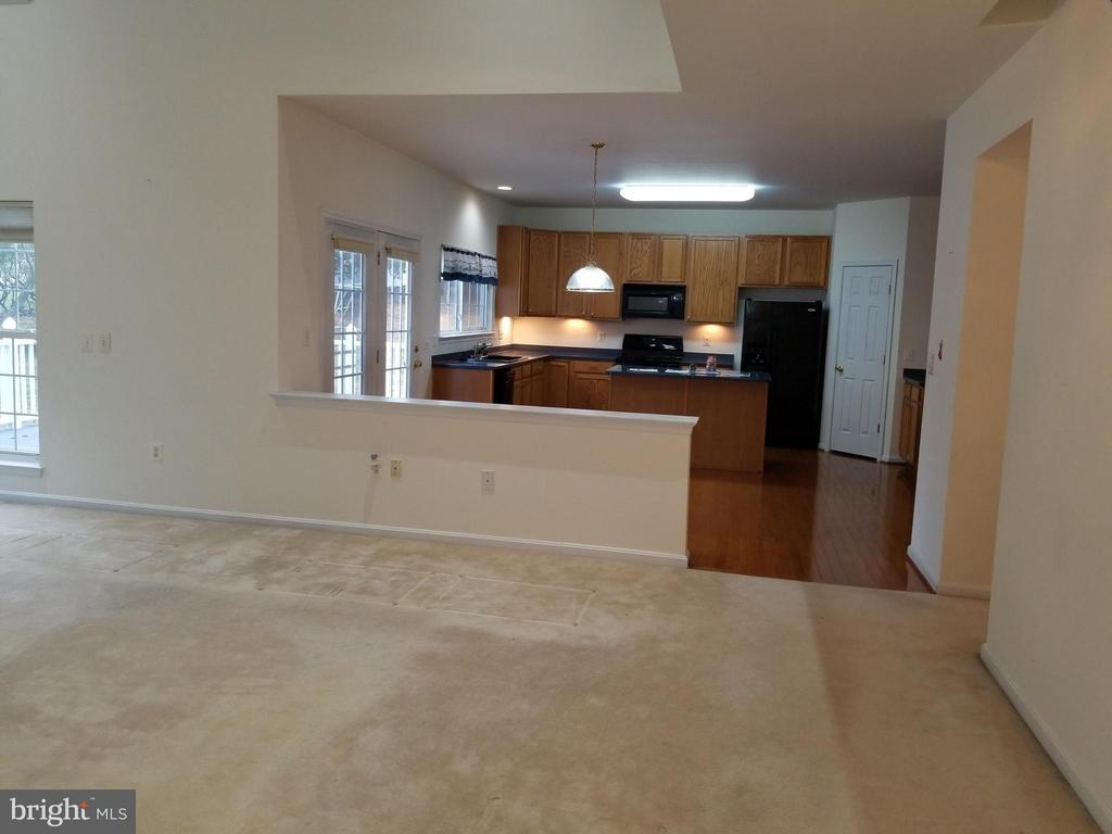 View of Kitchen from Family Room - 12601 VENTURA LN, FREDERICKSBURG