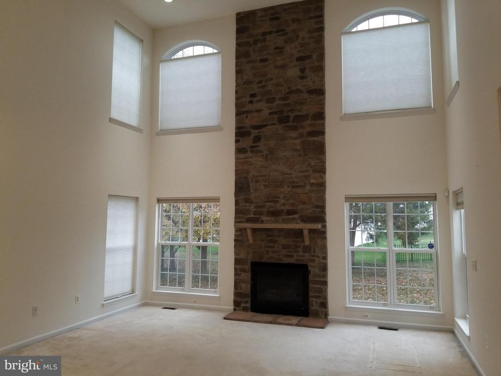 2 Story Family Room with Stone  Gas Fireplace - 12601 VENTURA LN, FREDERICKSBURG