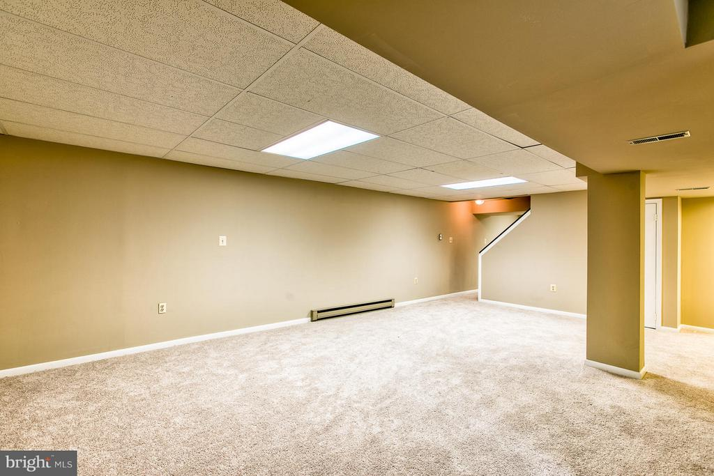 Rec room with new carpet and new paing - 6056 RIDGE FORD DR, BURKE