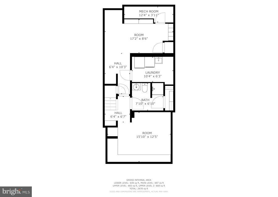 Basement Floor Plan - 4367 WESTOVER PL NW, WASHINGTON