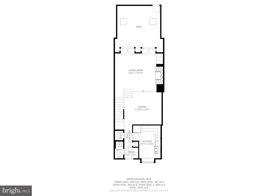 First Floor Plan - 4367 WESTOVER PL NW, WASHINGTON