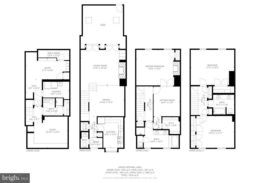 Floor Plans - 4367 WESTOVER PL NW, WASHINGTON