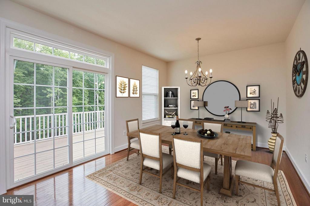 Dining room with door to deck - 16636 DANRIDGE MANOR DR, WOODBRIDGE