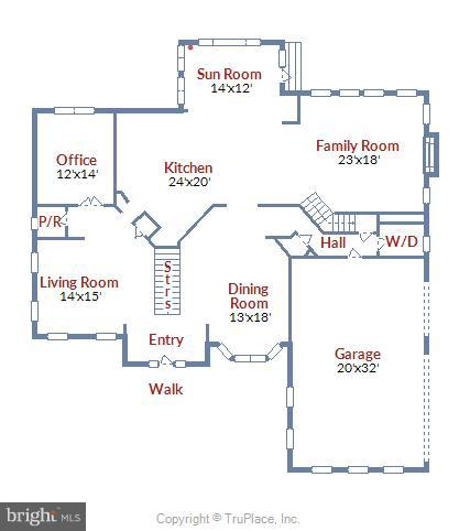 main level floorplan - 43416 SPANISH BAY CT, LEESBURG