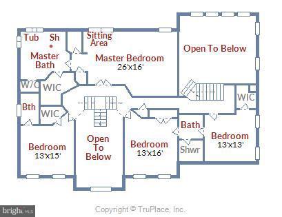 upper level floor plan - 43416 SPANISH BAY CT, LEESBURG