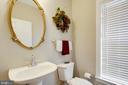 Elegant hall bathroom - 43416 SPANISH BAY CT, LEESBURG