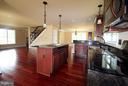mahogany kitchen - 11615 RIVER MEADOWS WAY, FREDERICKSBURG