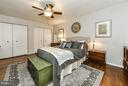 Bedroom with 4 closets along the long wall! - 2710 MACOMB ST NW #216-217, WASHINGTON