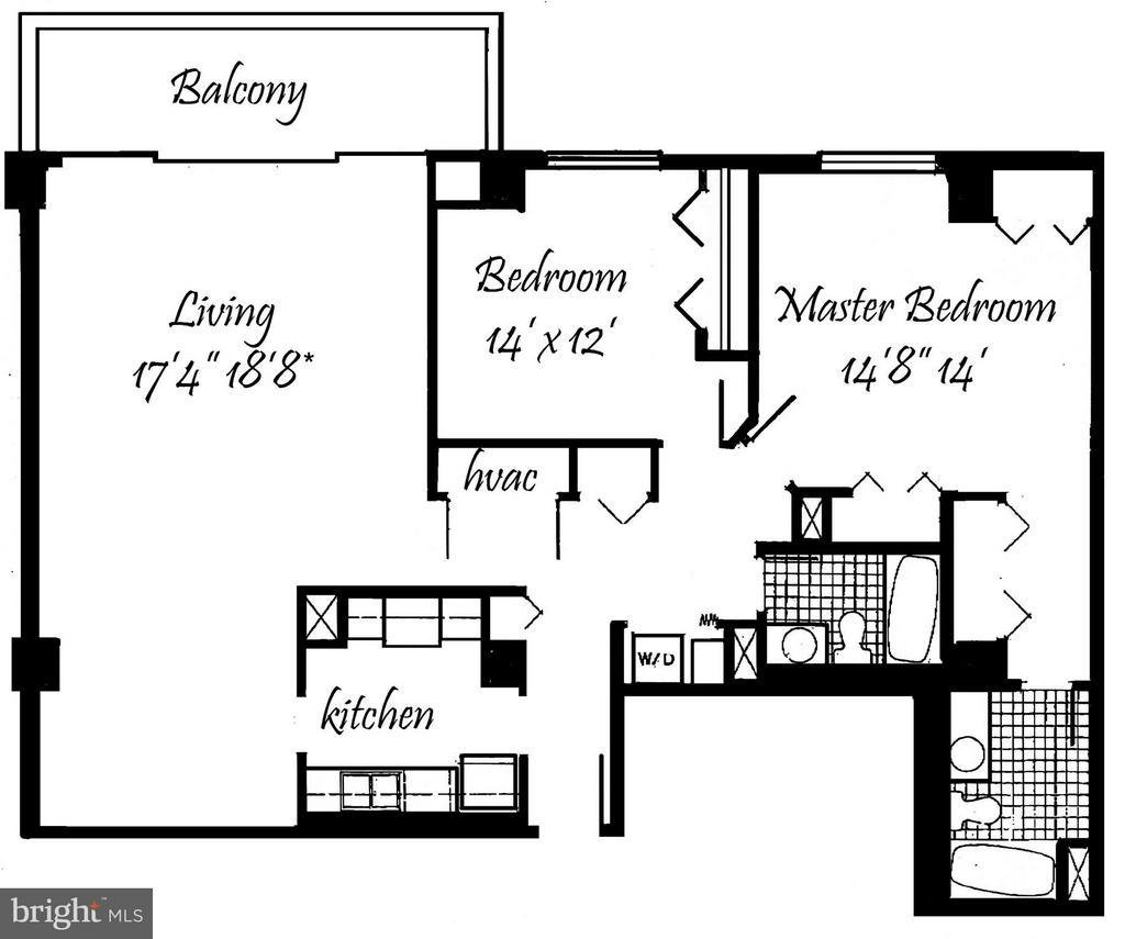 Floor Plan - 3800 FAIRFAX DR #1009, ARLINGTON