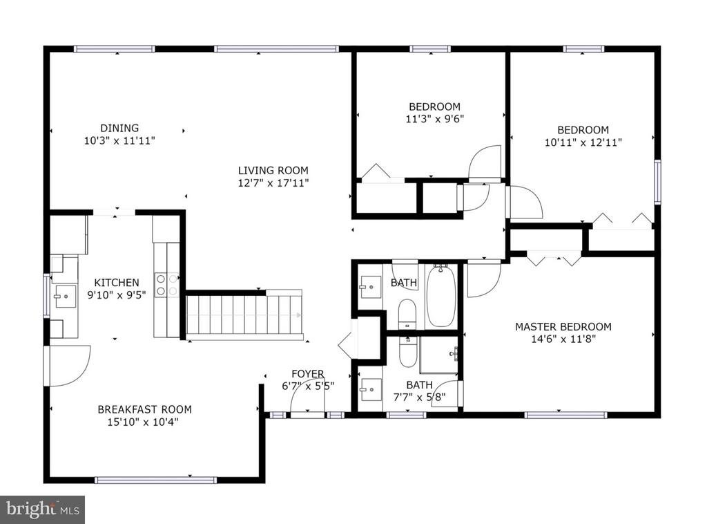 Main Level Floor Plan - 6702 COACHMAN DR, SPRINGFIELD