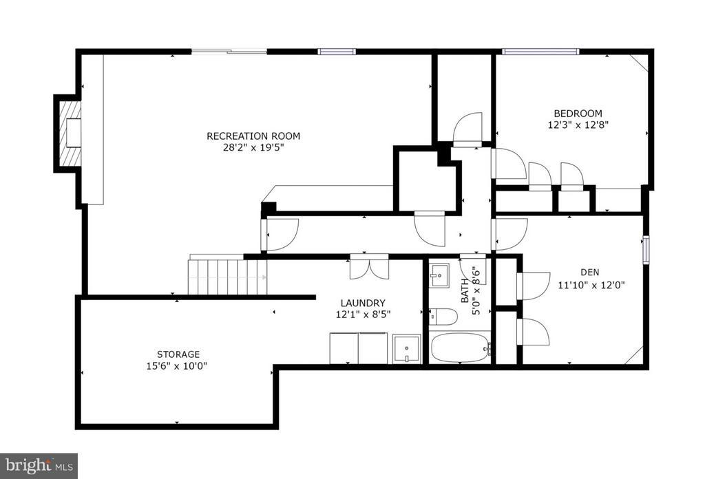 Lower Level Floor Plan - 6702 COACHMAN DR, SPRINGFIELD