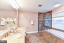 Renovated master bath with soaking tub - 1501F N COLONIAL TER, ARLINGTON