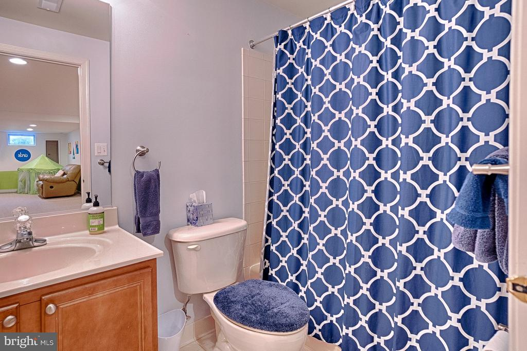 Full bathroom in basement - 43256 HARPER MANOR CT, ASHBURN