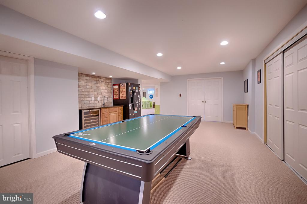Enormous fully finished basement - 43256 HARPER MANOR CT, ASHBURN