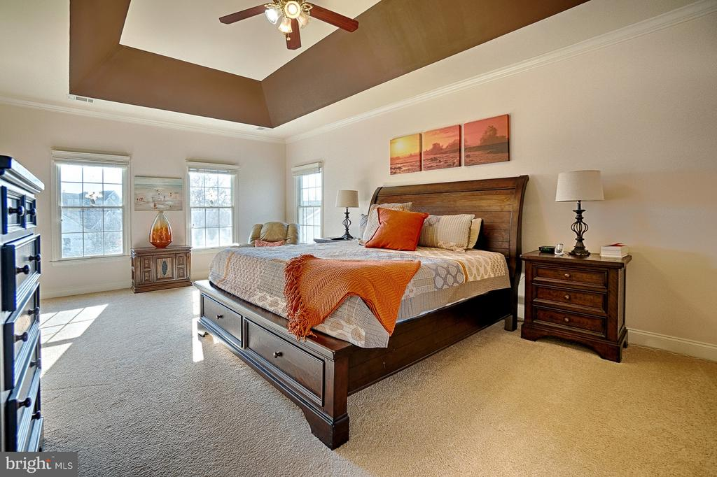Master bedroom with recessed ceiling - 43256 HARPER MANOR CT, ASHBURN