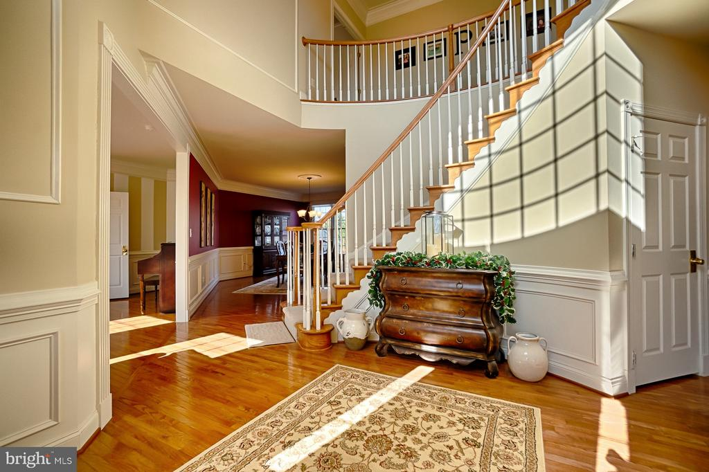 Impressive foyer with curved staircase - 43256 HARPER MANOR CT, ASHBURN