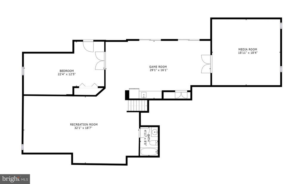 Lower level floorplan - 43256 HARPER MANOR CT, ASHBURN