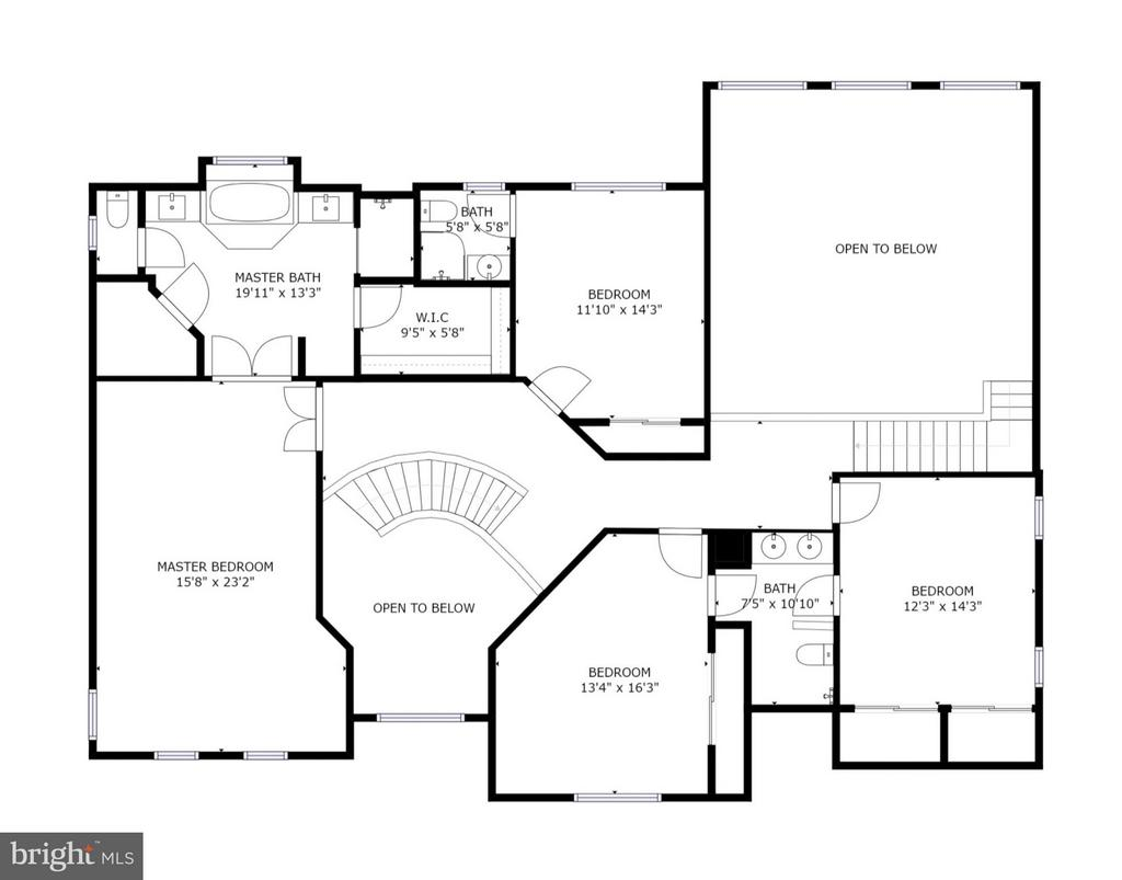 Upper level floorplan - 43256 HARPER MANOR CT, ASHBURN