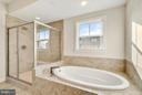 Master bath and soaking tub - 43337 STADIUM TER, ASHBURN