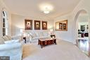 Living Room w/ Crown & Chair Molding - 20290 KIAWAH ISLAND DR, ASHBURN