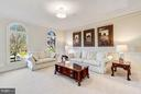 Living Room w/ Arched Windows - 20290 KIAWAH ISLAND DR, ASHBURN