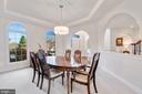 Formal Dining Room w/ Tray Ceiling - 20290 KIAWAH ISLAND DR, ASHBURN