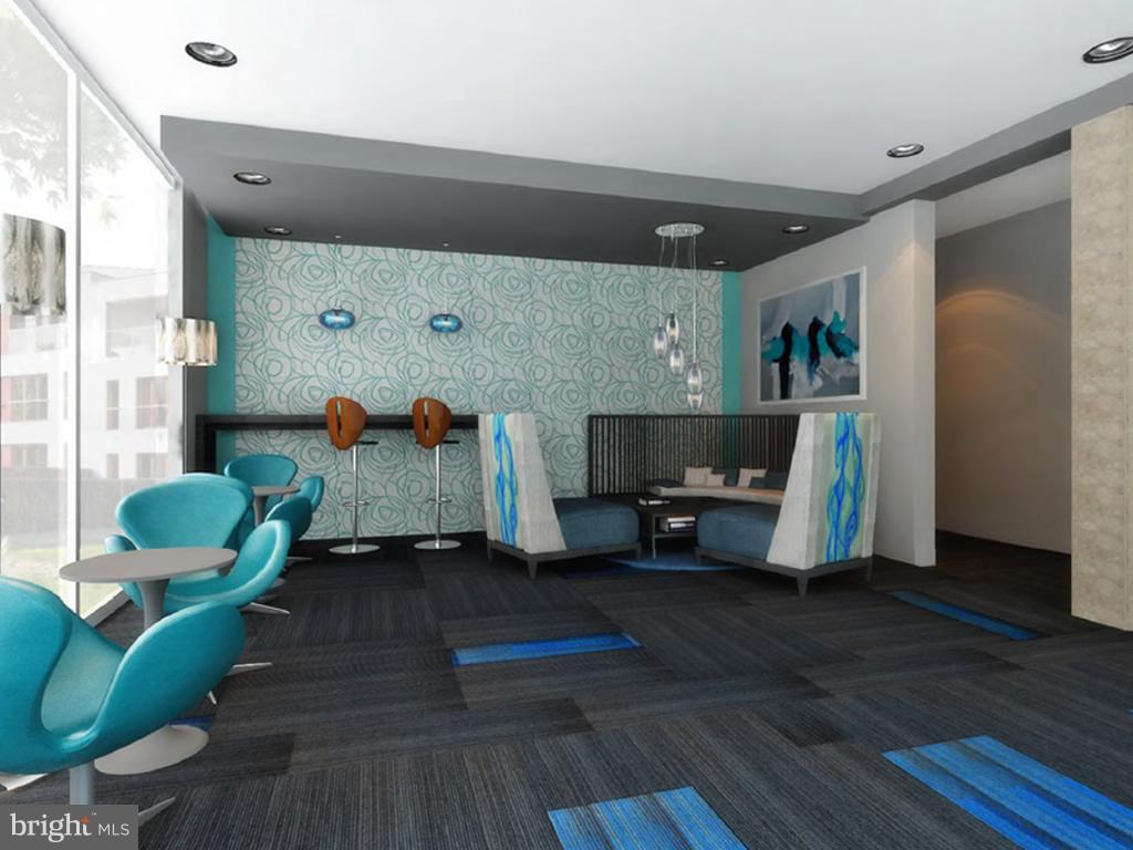 Artist renderings of lobby space redesign - 2710 MACOMB ST NW #216-217, WASHINGTON