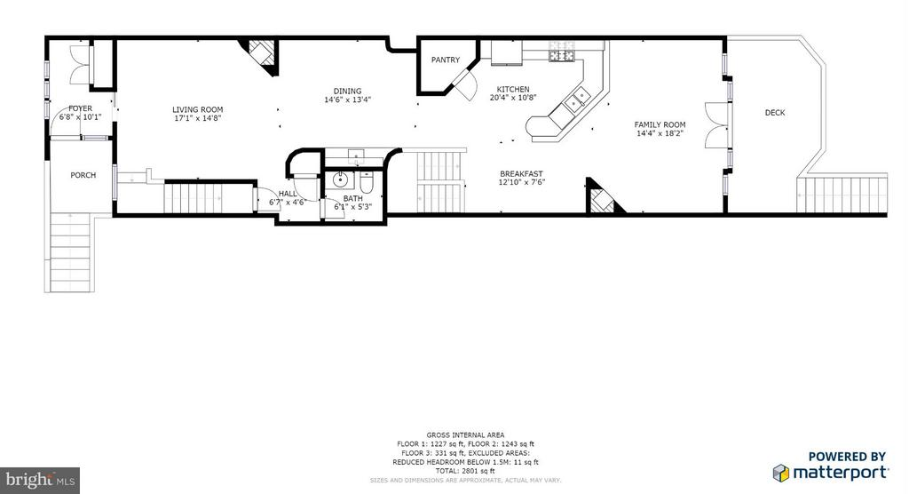Main Level floor plan - 717 KENMORE AVE, FREDERICKSBURG