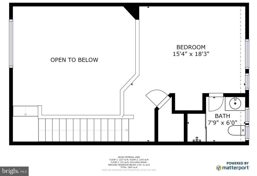 Loft area floor plan - 717 KENMORE AVE, FREDERICKSBURG