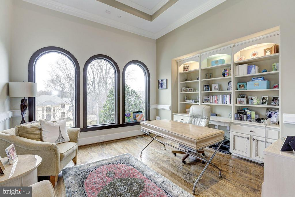 Library/office with custom built-ins - 8505 MEADOWLARK LN, BETHESDA