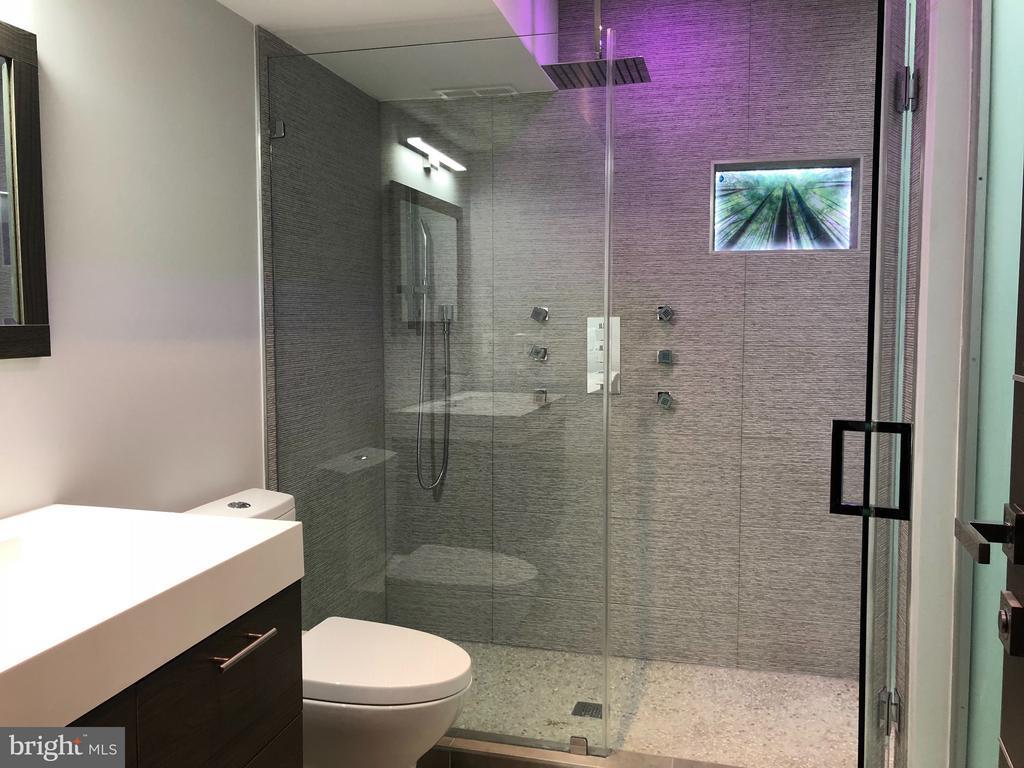 3RD FLOOR PORCELANOSA TILE SPA LIKE BATHROOM. - 3722 R ST NW, WASHINGTON