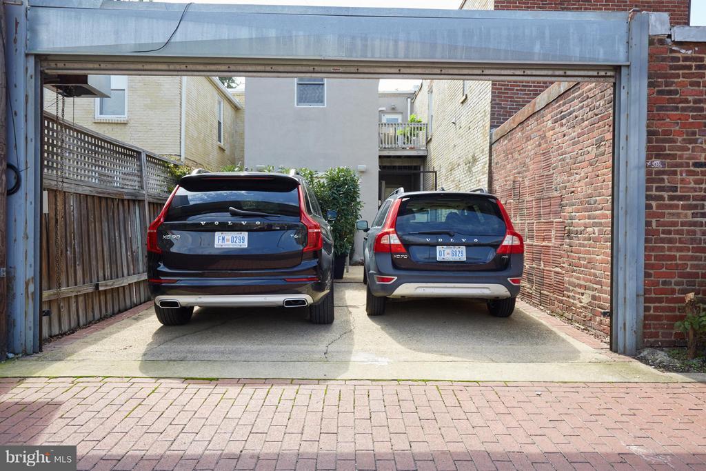 2-car gated parking - 1217 T ST NW, WASHINGTON