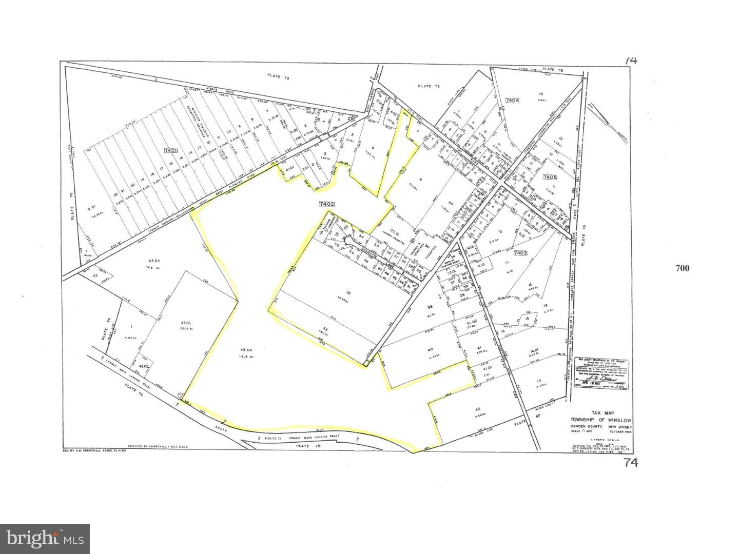 Land for Sale at L:43.03 ROUTE 73 Hammonton, New Jersey 08037 United States