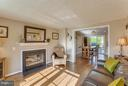 Living Room with a wood burning fireplace - 7427 KILCREGGAN TER, GAITHERSBURG
