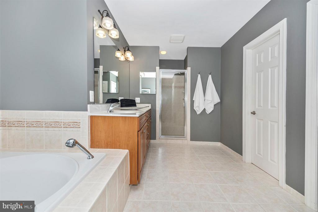 Master bath with huge tub, wooded views - 9614 WOODLAND RD, NEW MARKET