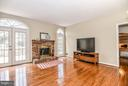 Relaxing family rm w/ cozy brick hearth fireplace - 6331 SUMMERDAY CT, BURKE