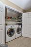 Bedroom level laundry w/ front loading W & D! - 6331 SUMMERDAY CT, BURKE