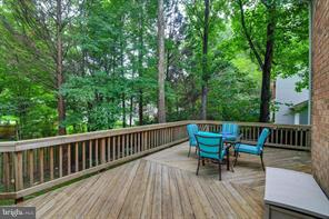 Backyard w/ flat grassy area & lined with trees! - 6331 SUMMERDAY CT, BURKE