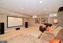 Theater/Play Area in Basement - 21439 BASIL CT, BROADLANDS