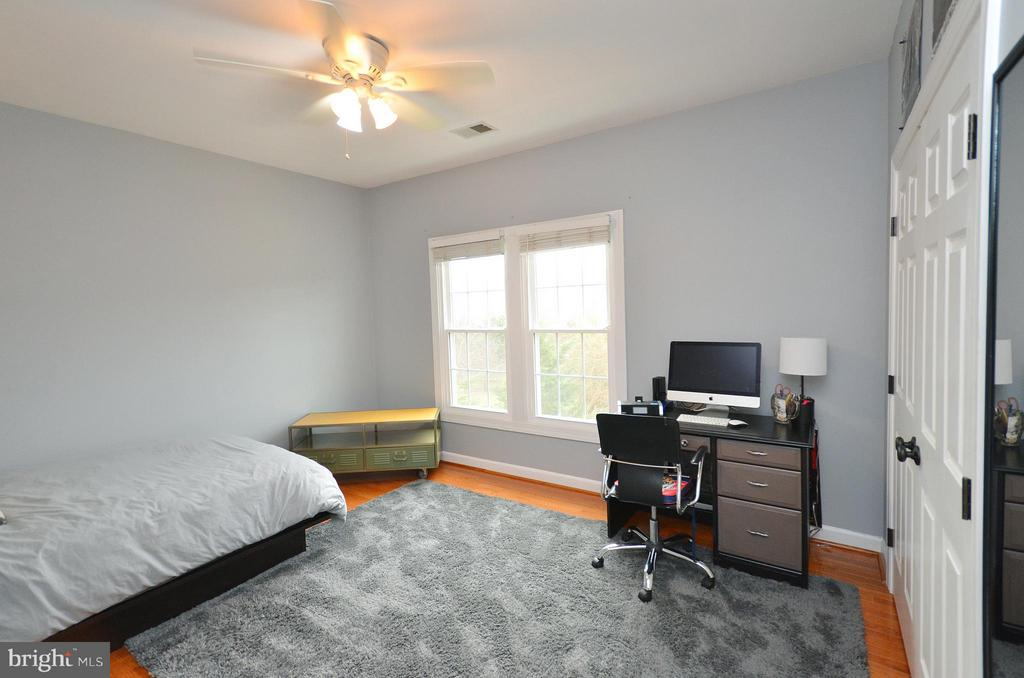 Bedroom 2 - hardwood floors, custom closet - 18490 ORCHID DR, LEESBURG
