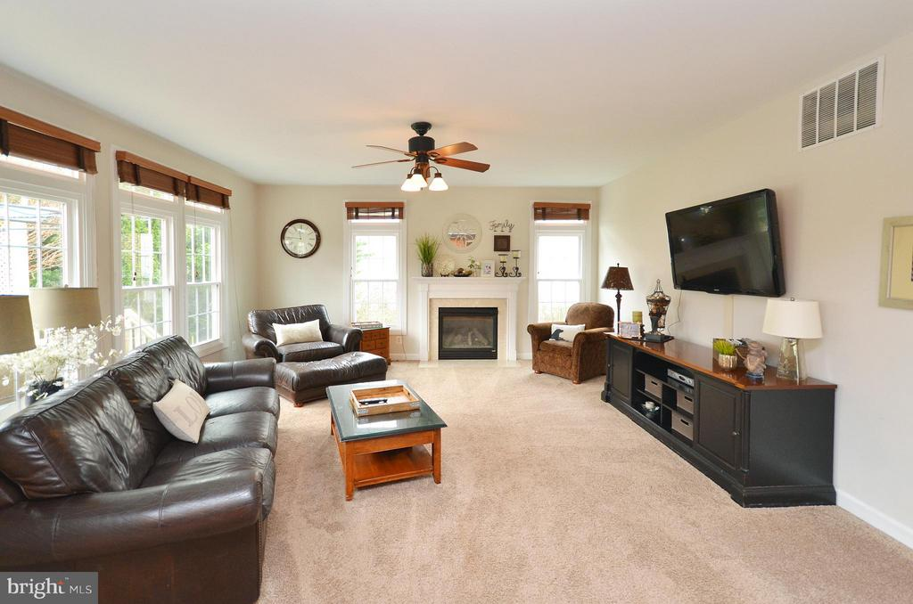 Family room off kitchen - 18490 ORCHID DR, LEESBURG
